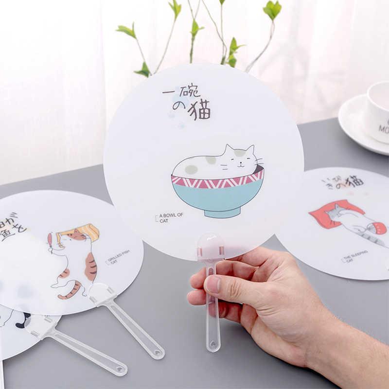 Ventilador de mano lindo Mini viaje portátil pequeño ventilador de helado forma de paño plegable ventilador plegable estilo japonés