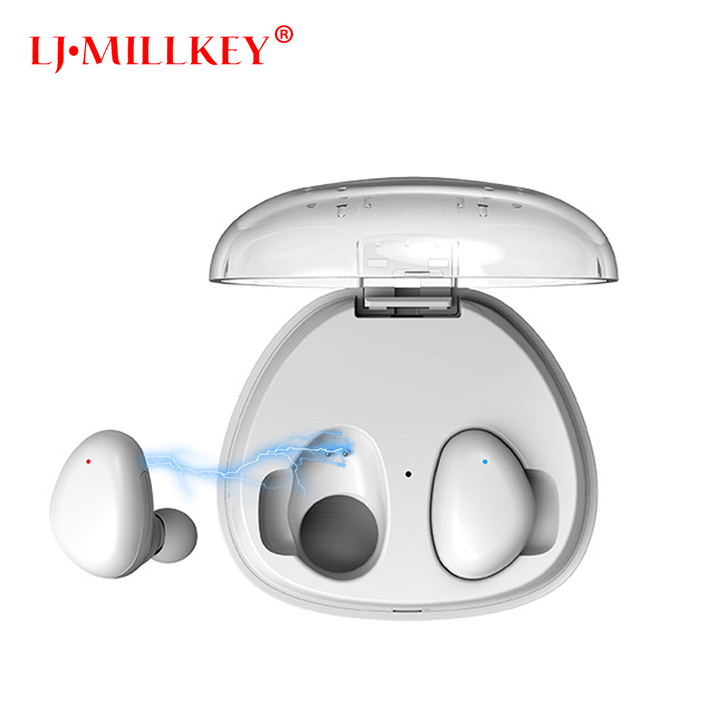 True Wireless Earbuds Hifi Bluetooth Earphone Stereo With Mic Charger Box Earphones LJ-MILLKEY YZ131 wireless bluetooth earbuds airpods earphones with usb car charger handsfree bluetooth earphone with mic for smartphone car
