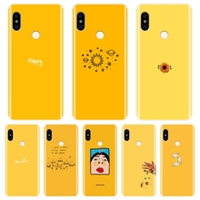 Back Cover For Xiaomi Redmi Note 6 Pro 5A Prime 5 4 4X Soft Silicone Yellow Phon