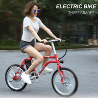 20 inch classic electric bicycle 48V lithium battery female power ultra light adult double small bike 18650 lithium city ebike