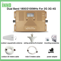 Full Smart DUAL BAND LCD Display Speed 2g 3g 4g1800 2100mhz Mobile Signal Booster Cellular Cell