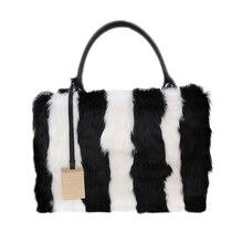 2016 New Arrival Women High-grade Rabbit Fur Shoulder Bag  Ladies Fashion Handbag Charm Personality Crossbody Bags Shopping bag