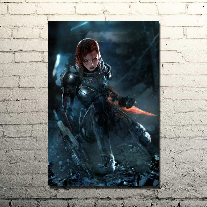 Mass Effect 2 3 4 Hot Shooting Action Game Art Silk Poster Print 13x20 24x36 Wall Pictures For Bedroom Living Room Decor 017(China)