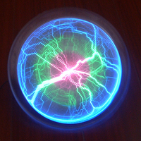 6 Tri color Lumin Disk Plasma Plate Lightning Lamp Holiday Disco Party Decor