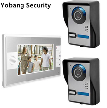 Yobang Security Freeship 7 Inch Video Intercom System Support Unlock Infrared Night Vision Rainproof Access Control Door Camera