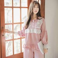 Fitibest Spring Autumn Winter Womens Pajama Sets O Neck Long Sleeve Women Sleepwear Pajamas Girls Woman