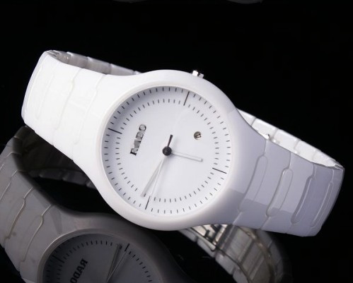 Ceramic series of ceramic fashion table white ceramic ladies watch male women's mirror lovers watches