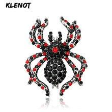 Broche de insecto araña Vintage con diamantes de imitación Pines de cristal y broches para joyería de Animal para mujer, accesorios para bufandas y bufandas