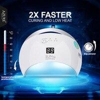אור לבן מנורת מייבש ציפורניים 48 W SUN6 תכלת מניקור מקצועי LED מנורת מייבש UV ריפוי כל הציפורניים ג 'ל פולני אמנות ציפורן תצוגה