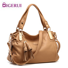 Genuine leather Women's big bag 2017 mother bag soft leather women's handbag fashion one shoulder cross-body handbag A39