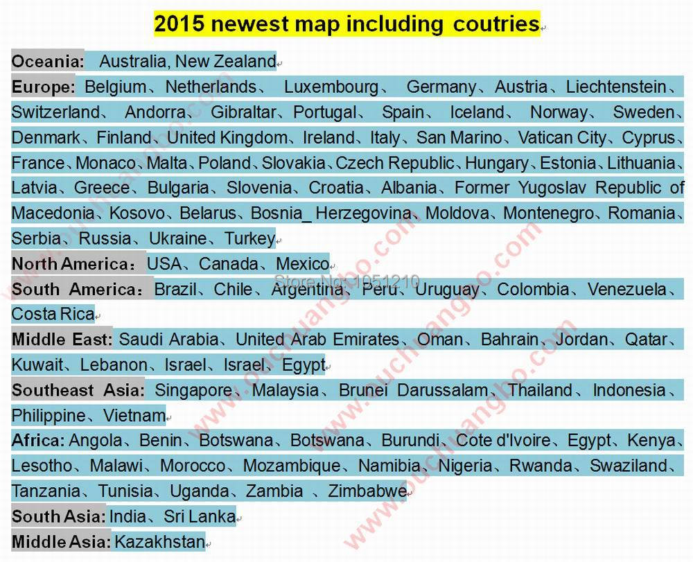 2015 newest map including coutries