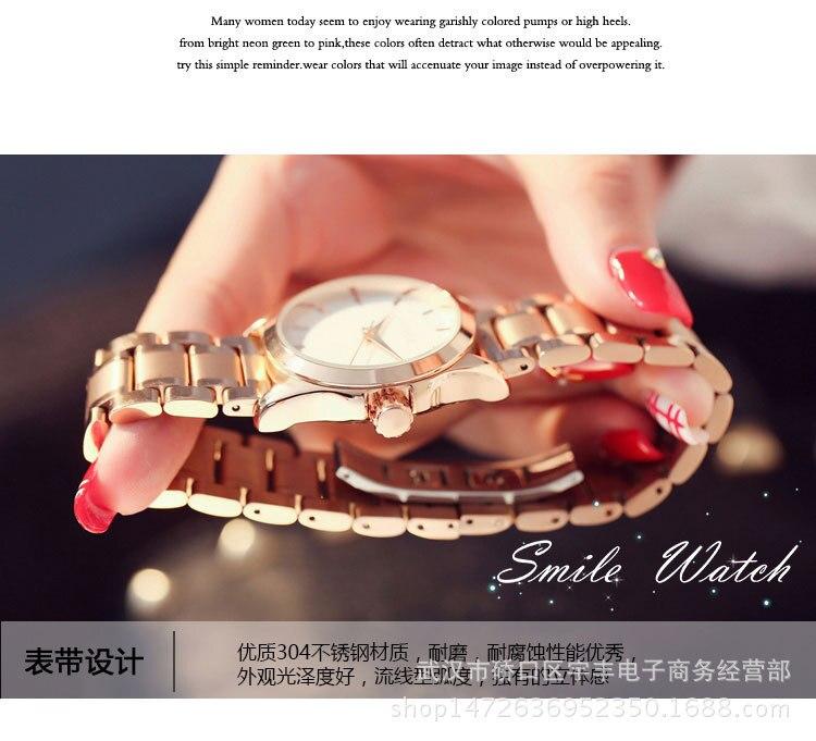 Data de Aço Inoxidável Relógio feminino relogio saat