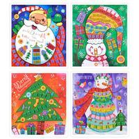 Kinderen Puzzel Speelgoed DIY Handgemaakte EVA Mozaïek Stickers Kerstboom Kerstman Sneeuwpop Patroon Kids Art Ambachten Geschenken