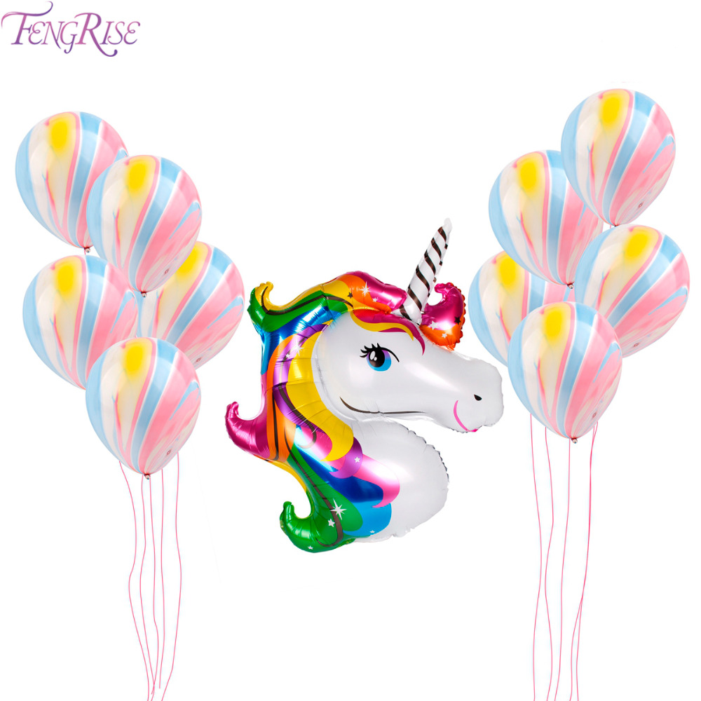 Toys & Hobbies Cartoon Hats 11pcs Unicorn Balloons Birthday Party Pink Rainbow Agate Balloon Kids Party Favors Gifts Baby Shows Backdrop Decor Cartoon Hat