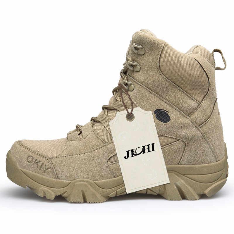 Leger Militaire Laarzen Mannen Tactische Laarzen Zip Army Tactical Desert Combat Laarzen Veiligheid Schoen Sneeuw Lederen Winter Herfst Bruin
