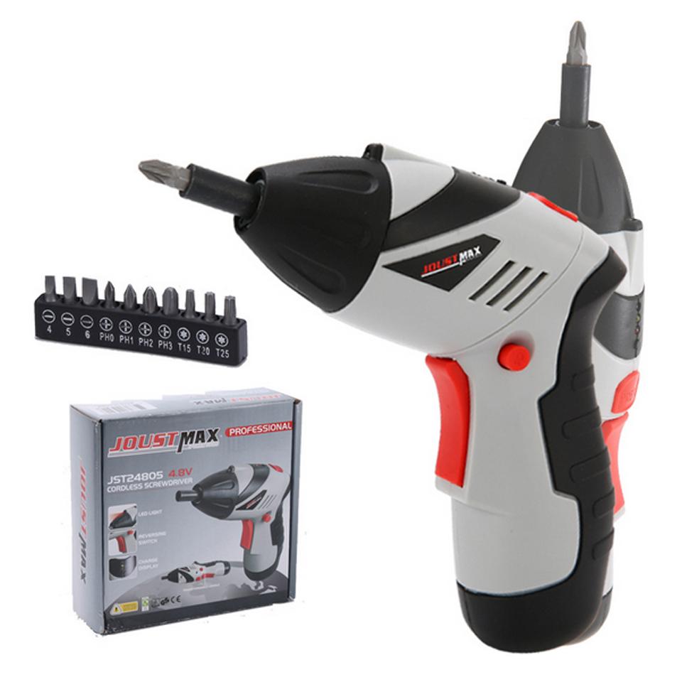 Купить Новый 4.8 В Электрический Отверток Parafusadeira Литиевая Аккумуляторная Мини-Электрическая Отвертка С 10 шт. Магнитные Биты дешево