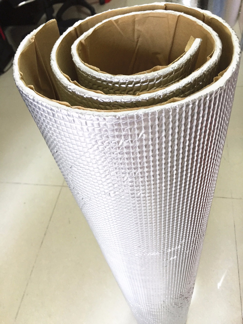 Car Audio Sound Deadener Rattle <font><b>Vibration</b></font> Control Proof 45cmx100cm Aluminum Foil Cotton Heat Insulation Mat Door Roof Trunk <font><b>Hood</b></font>