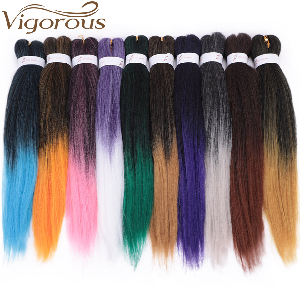 Vigorous Synthetic Easy Jumbo Braids Hair Ombre Braiding Hair 20inches 26 Inches Yaki Straight Crochet Hair Extensions