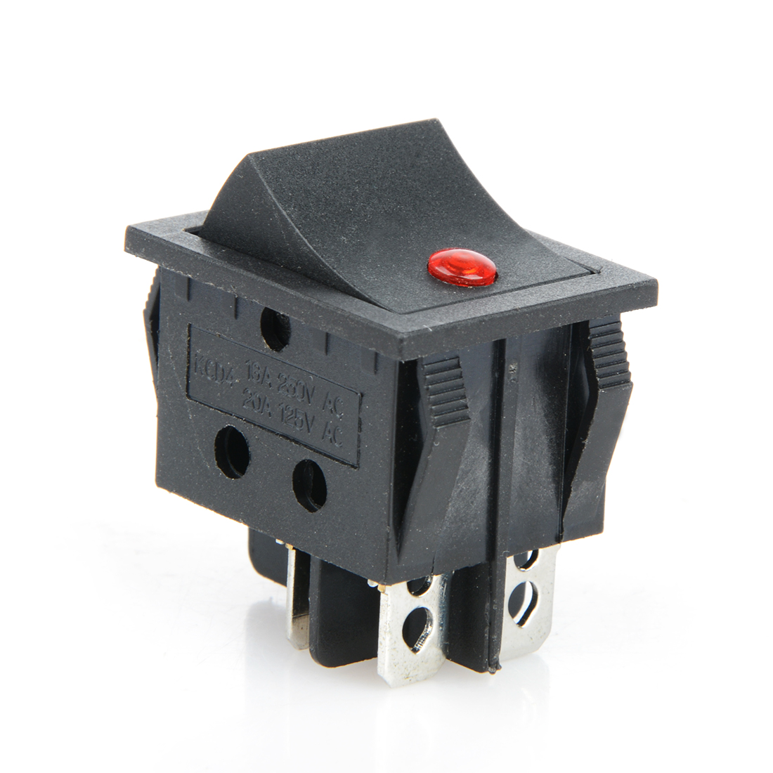 2pcs Rocker Switch KCD4 Four Leg Cat Eye Light Boat Type Pump Treadmill Repair Switch 12V 20A