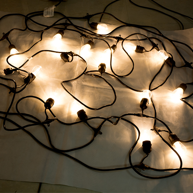 52FT LED en plein air chaîne lumières Edison ampoules étanche vacances lampe chaîne lumières décoratives pour noël jardin lumière chaîne - 4