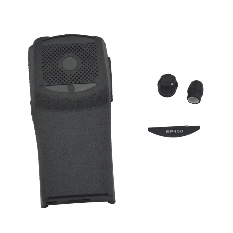 Black Plastic Housing Case Cover With Sticker,knobs For Motorola EP450 Portable Two Way Radio