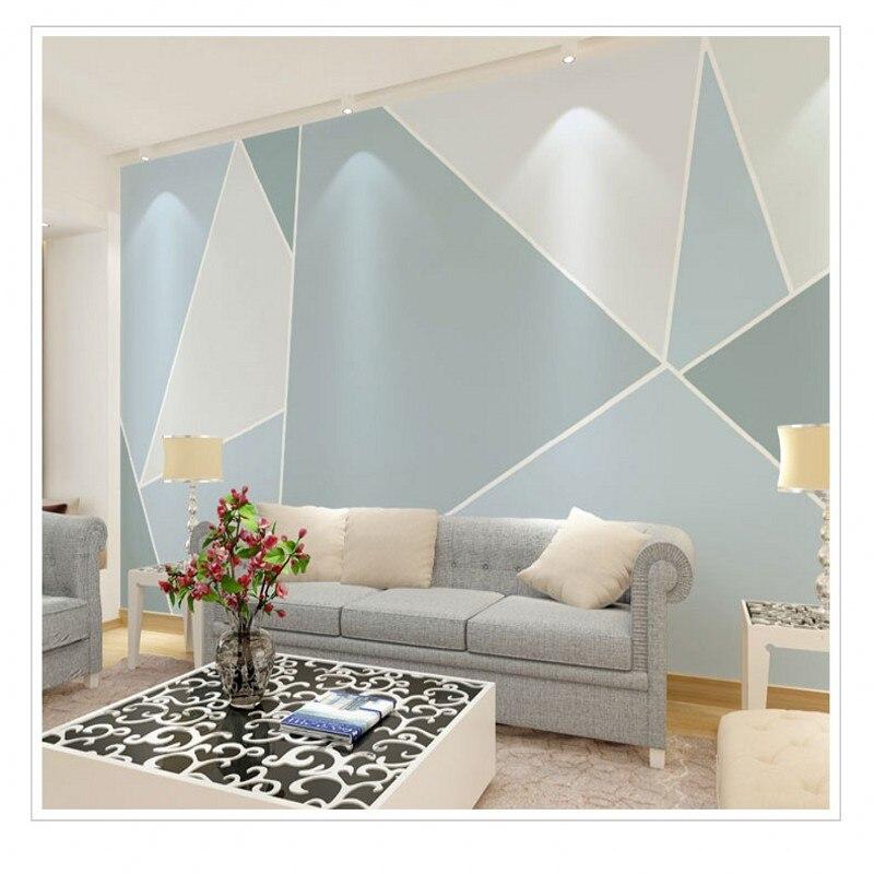 US $17.27 38% OFF|Fototapete Moderne Abstrakte Geometrische Art Grafik  Tapete Schlafzimmer Wohnzimmer Hintergrund Tapete 3d stereo Wandbild-in  Tapeten ...
