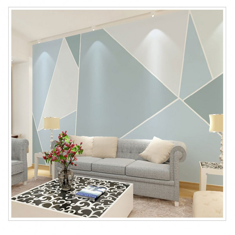 background living 3d geometric modern bedroom abstract graphics stereo zoom wallpapers mural nordic