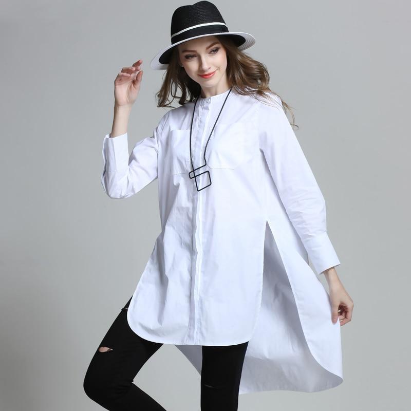 Women White Shirt Plus Size Button Up Oversize