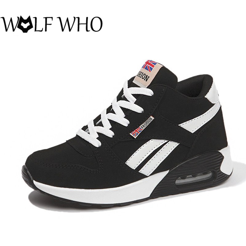 WOLF WHO Autumn Women Sneakers Air Custion Trainers Women Casual Shoes Female Baskets Femme Winter Cotton Shoe Ladies Flat Shoes