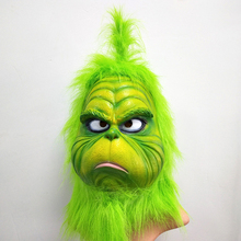 Nette Wie Weihnachten Geek Weihnachten Gestohlen Cosplay Maske Latex Halloween WEIHNACHTEN Vollen Kopf Latex Maske Cosplay Kostüm Maske Requisiten