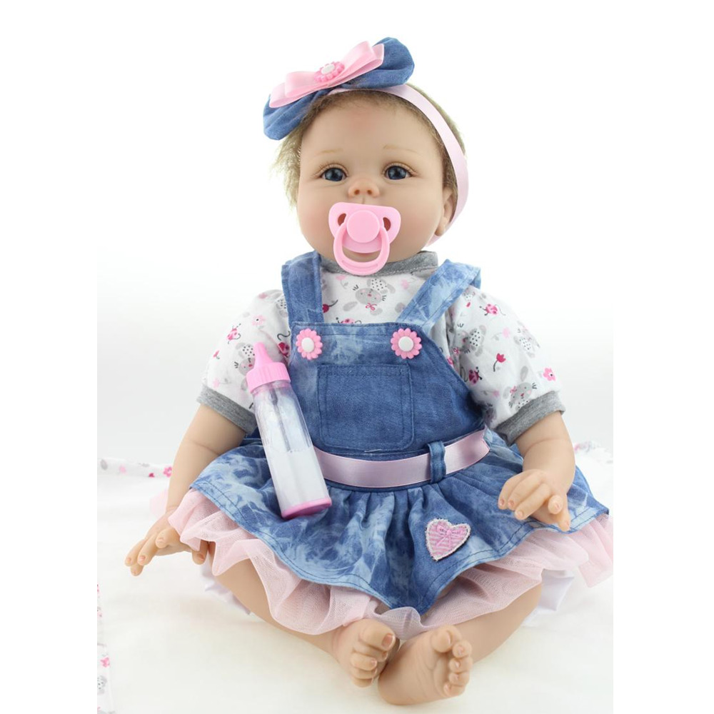 Real Toys For Girls : Npk cm reborn baby doll real silicone kids toys