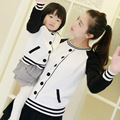 Family look New matching clothing baseball cotton Pullover cardigan sweater mother father baby and daughter son outfits clothes