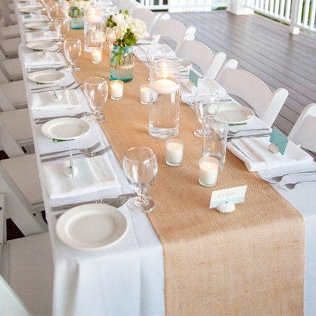 30cmX10Y wysokiej jakości Vintage naturalne juta juta bieżnik koronki do jadalni stolik restauracyjny dekoracje ślubne AA8219