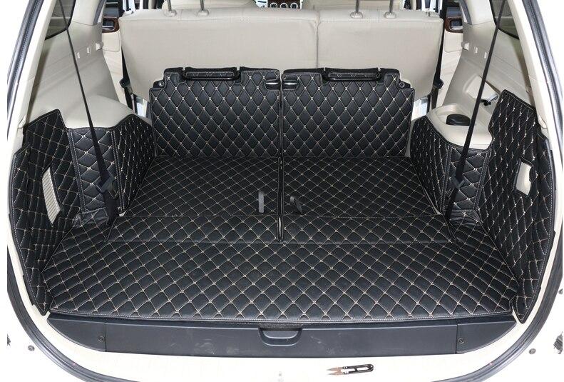 Meilleur tapis! spécial tronc cargo liner tapis pour Mitsubishi Pajero Sport 7 sièges 2014-2008 botte imperméable tapis, Livraison gratuite
