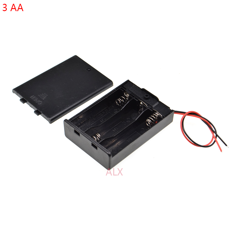 1//2//5pcs Battery Holder Box Case 2AA 2A and ON//OFF Switch and Cover 2AA ASS