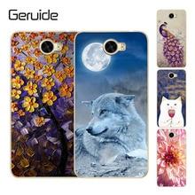 Geruide Huawei Y5ii Y5 ii 2 CUN U29 L21 L01 Case Painted Soft Silicon TPU Back Cover Y 5ii 5 II CUN-U29 CUN-L21 CUN-L01