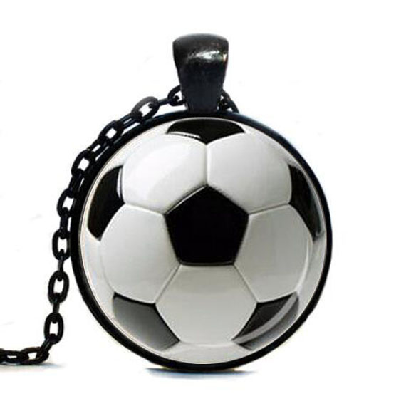 SOCCER BALL PENDANT Necklace Soccer Mom Jewelry Football ...