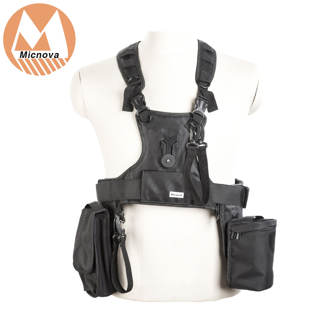 Micnova MQ-MSP07 Carrier III Multi Camera Carrier Photographer Vest with Triple Side Holster Strap for Canon Nikon DSLR Camera