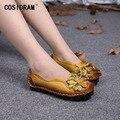 Mulheres Flats Marca de Couro genuíno Fundo Macio Loafers Condução Sapatos Mocassins Mulheres Casual Flat Shoes Moda Feminina Novo SNE-675