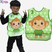 KEYIGE Fashion Cartoon Feeding Bib Infant Sleeveless Art Apron Animal Smock Pocket Bib Burp Cloths Soft