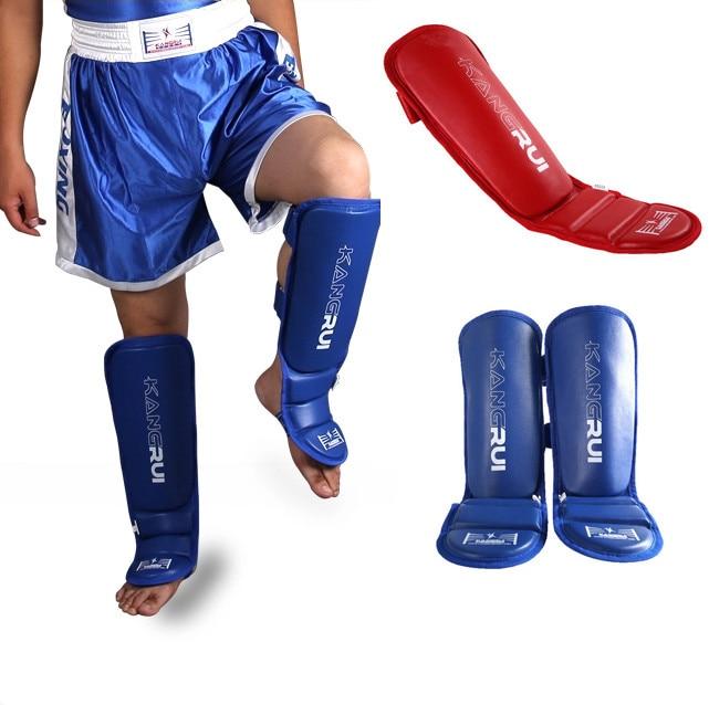 Prix pour Marque Shin Gardes kick boxe protecteur Sanda taekwondo boxe Leggings Cheville protection pour MMA Muay thai protège-tibias