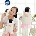 Pingüino lindo del pingüino de peluche muñeca Suave almohada muñeca de la felpa juguetes knuffel niños regalos de cumpleaños bebé pacificar juguetes extrusión de sonidos