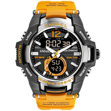 Man Watch 2019 SMAEL Brand Men Sports Watches Dual Time Quartz Wristwatch S Shock Men Watch reloj deportivo hombre montre homme цена