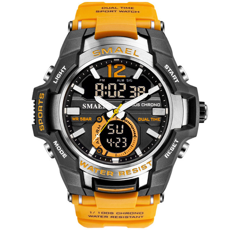 Mann Uhr 2019 SMAEL Marke Männer Sport Uhren Dual Time Quarz Armbanduhr S Schock Männer Uhr reloj deportivo hombre montre homme