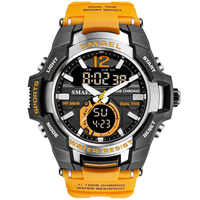Reloj para hombre 2019 SMAEL marca relojes deportivos para hombres reloj de pulsera de cuarzo de doble hora S Shock reloj deportivo para hombre montre homme