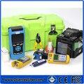 Máquina de Emenda de Fusão Splicer + OTDR Combo T37 + T303 Monomodo OTDR, 1310/1550nm + Medidor de Energia + Fonte de Luz + VFL