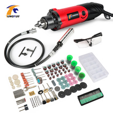 Tungfull Mini Drill Tools Grinder Flex Shaft Machine Drilling Machine Electric Engraver Dremel Rotary Tool Accessory Set все цены
