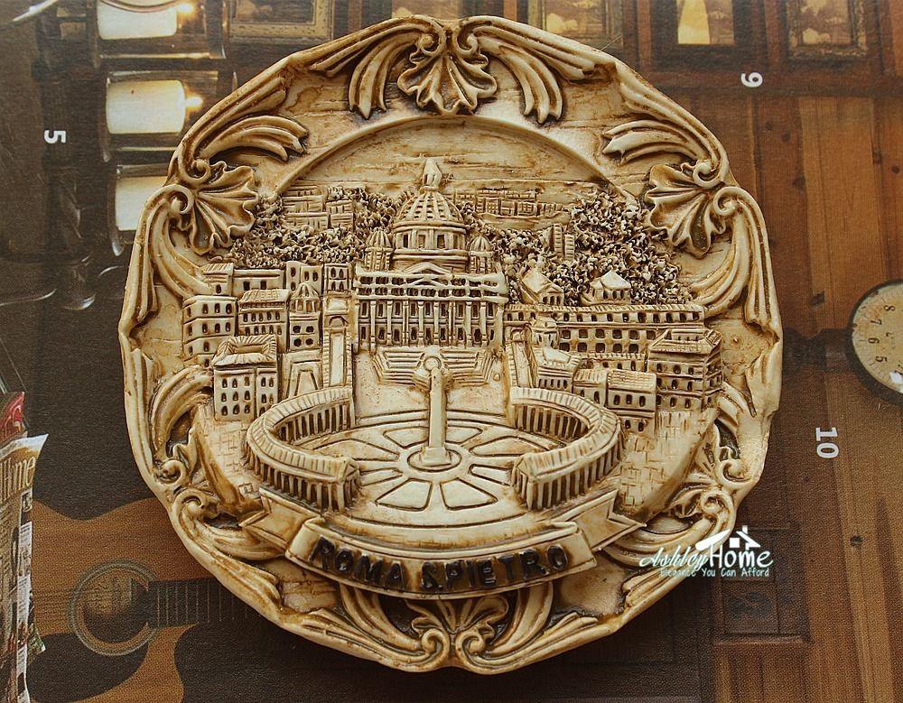 Colosseum Rome Roma 3D Refrigerator Fridge Magnet Travel City Souvenir Collection Kitchen Decoration White Board Sticker Metal