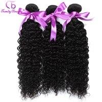 3 stücke pro viel Peruanischen Verworrene Lockige Haarwebart Bündelt Menschliche Haarverlängerungen 8-26 Zoll farbe # 1b Trendy Schönheit Haar Freies Schiff