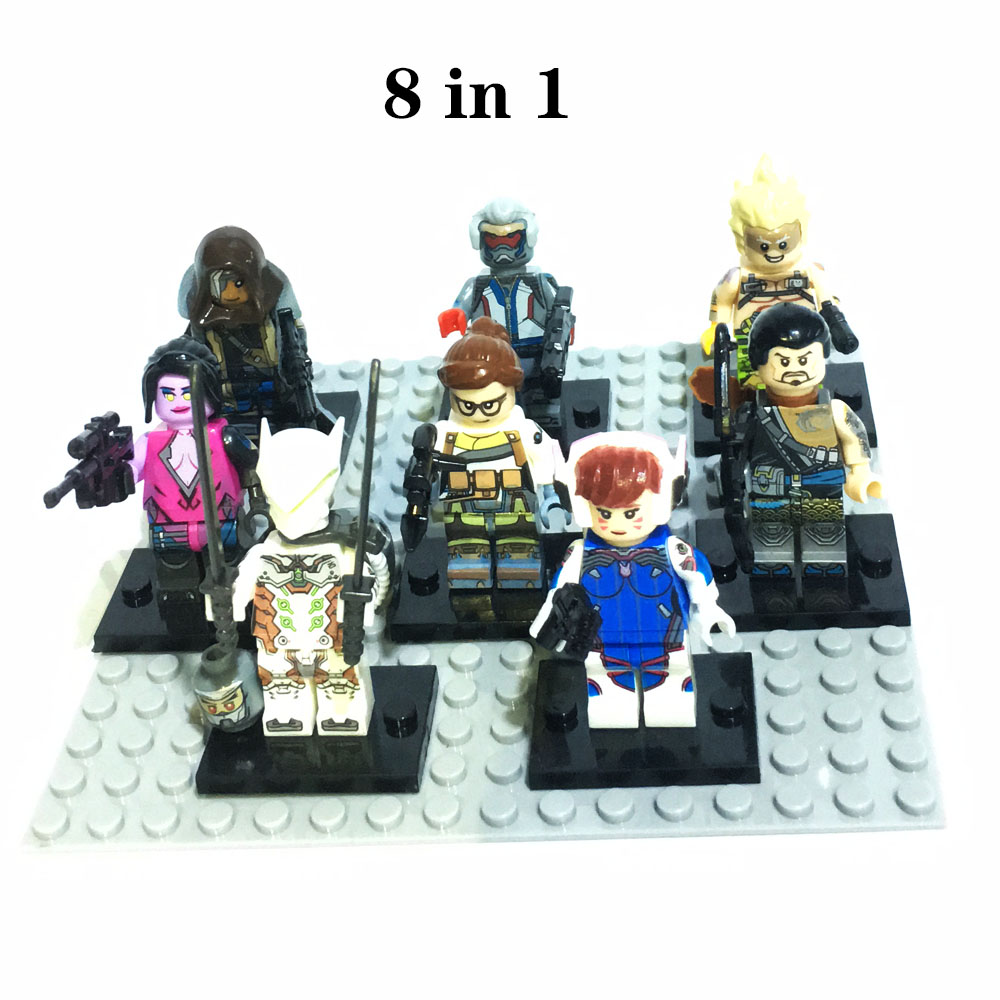 8pcs/set Figures Game Overwatching Building Block Compatible Legoergy Overwatcing Infinity War OW Blocks For Toys Gifts